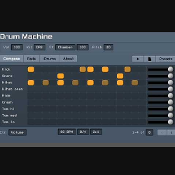 Virtual drum machine