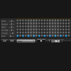Virtual drum sequencer
